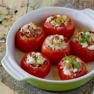 пълнени домати с шунка и крема сирене
