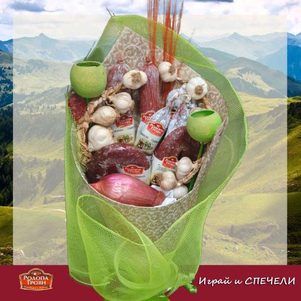 вкусен букет луканки салами